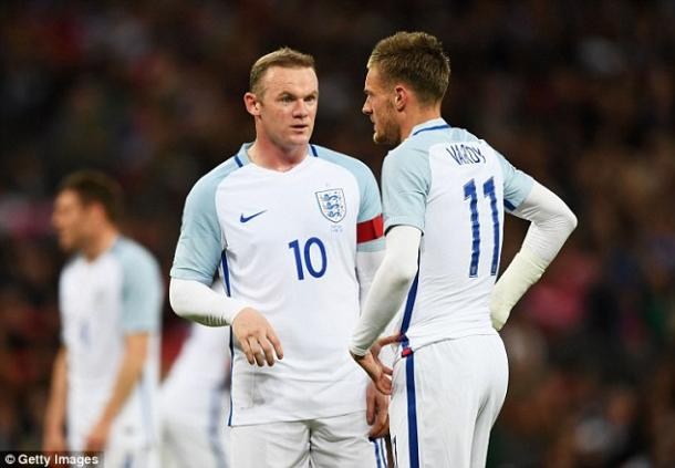 Rooney, Vardy and Kane didn't work as a trio on Thursday (photo: Getty Images)
