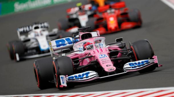 Perez en el GP de Hungría. Foto: F1