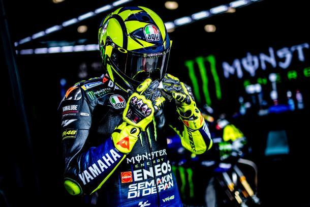 Rossi en el test de Brno. Imagen: MotoGP