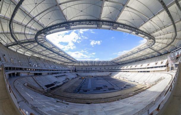 Rostov Arena está quase pronta, mas ainda não foi entregue. (Foto: FIFA)