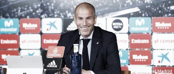 Zinedine Zidane, en rueda de prensa | Foto: Real Madrid CF