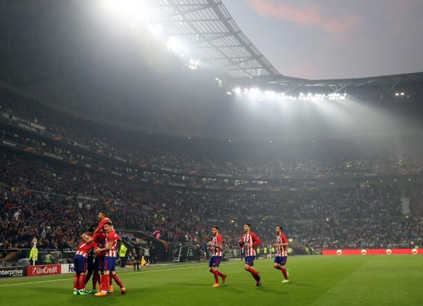 Celebración atlética tras el 0-1   UEFA