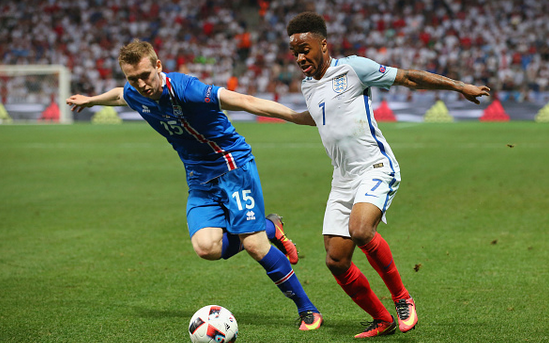 Sterling (right) in action for England at this summer's European Championships - where his performances were under intense scrutiny. | Photo: Getty