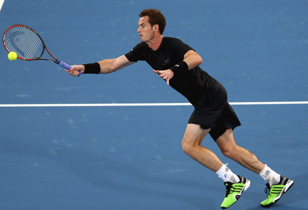 Murray at the 2015 edition of the Mubadala World Tennis Championship (Photo by Francois Nel/Getty Images)