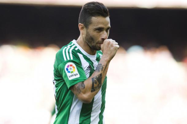 Gol de Rubén en el Camp Nou. Foto: LaLiga