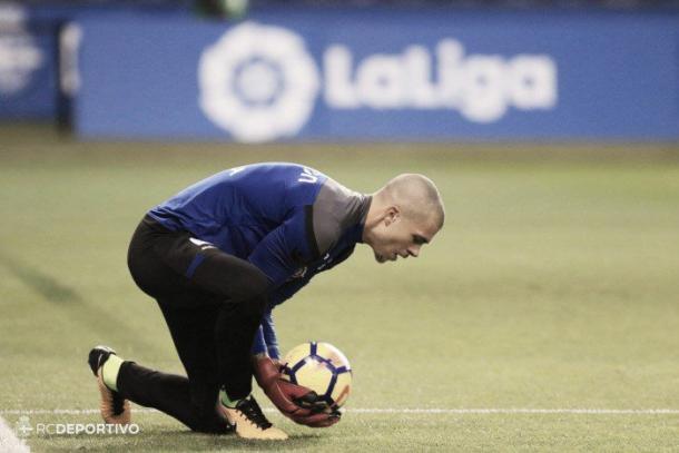 Ruben Martinez entrenando/ Fuente: R.C.Deportivo