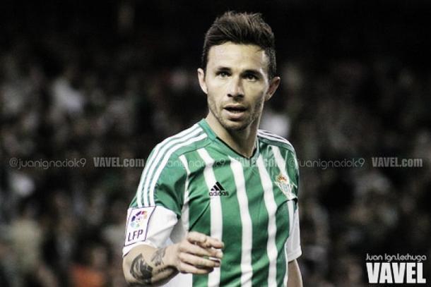 Rubén Castro celebra un gol la temporada pasada con el Real Betis | Foto: Juan Ignacio Lechuga - VAVEL