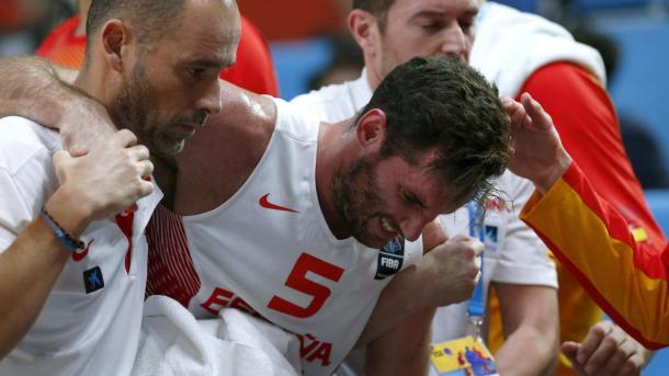 Rudy acabó lesionado ante Lituania (Feb.es)
