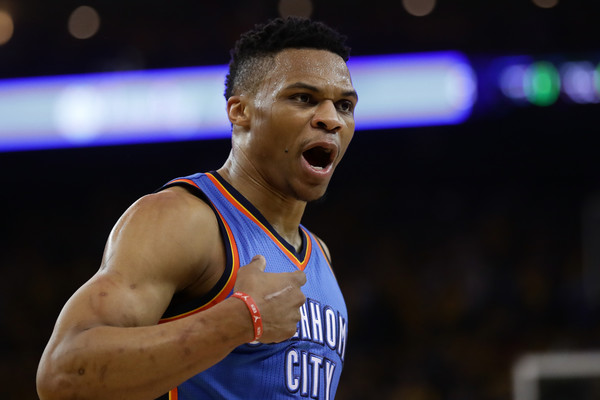Russell Westbrook is favorite to win the MVP award by a long shot. Photo: Ezra Shaw/Getty Images North America