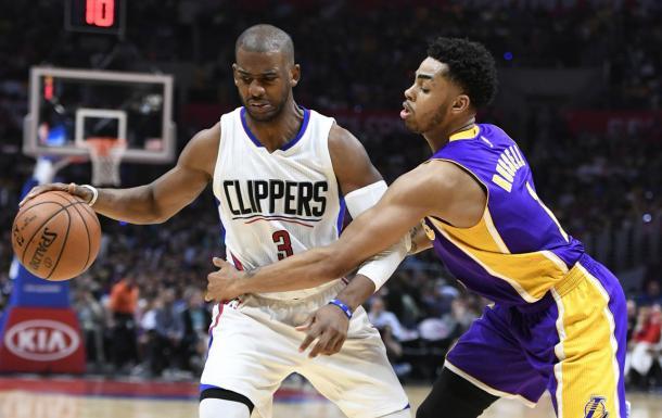 D'Angelo Russell si è concentrato molto sull'aspetto difensivo - Photo: LakersNation