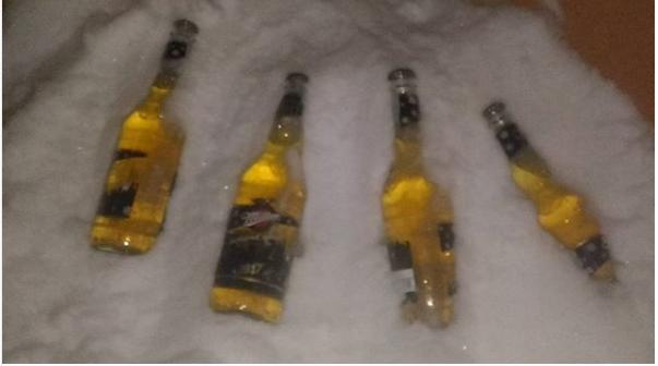 Quem nunca quis gelar cerveja na neve?  (Foto: Arquivo Pessoal)