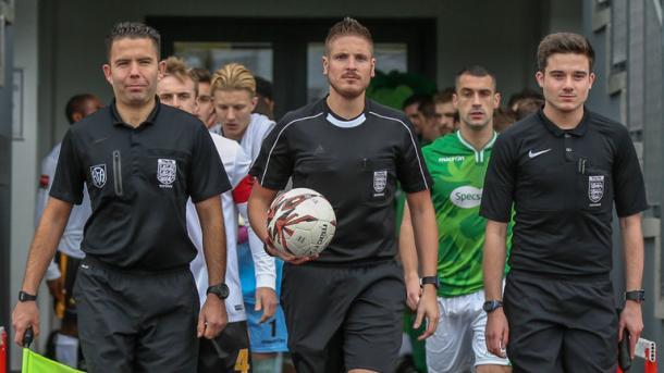 Atkin durante un partido en las divisiones inferiores de Inglaterra | Foto: Sky Sport