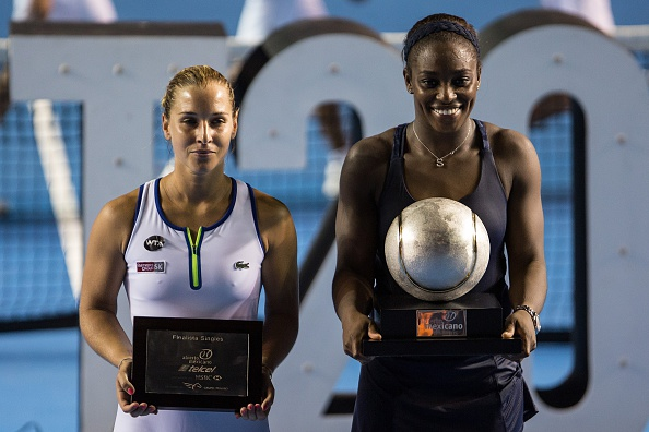Stephens And Cibulkova With Their Trophies. Photo: Manuel Velasquez/Getty