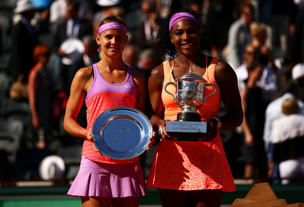 Safarova (left) impressed at the French Open and did well to win the second set but Williams (right) stepped up to another level in the final set (Photo by Dan Istitene / Getty)
