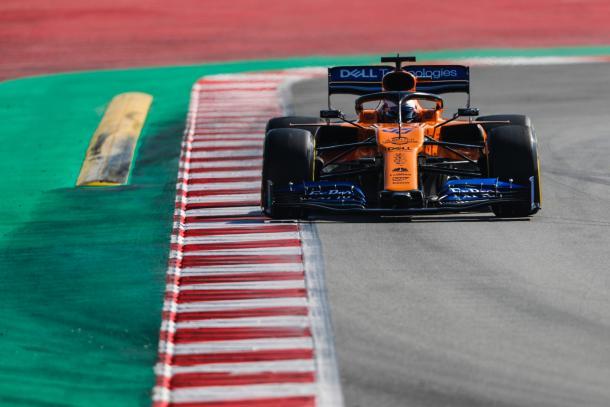 Carlos Sainz Jr. durante los test de pretemporada de 2019   Fuente: Twitter (@McLarenF1)
