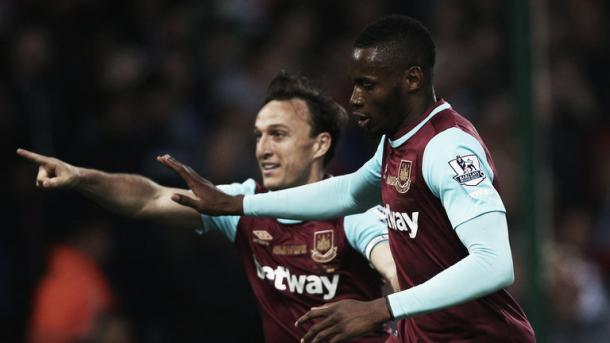 Above; West Ham United striker Diafra Sakho is the subject of a reported £11m bid from Sunderland AFC | Photo: Sky Sports
