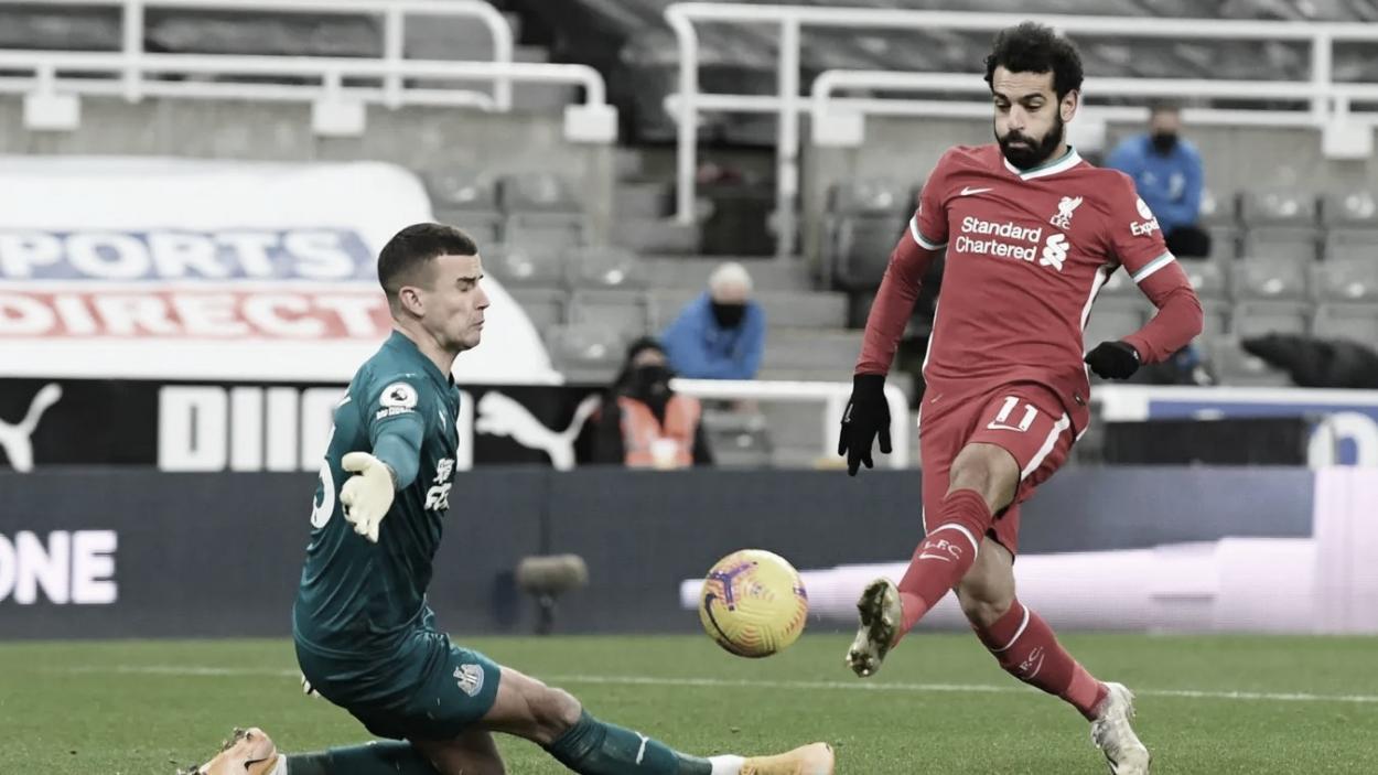 Salah tuvo varias oportunidades para adelantar al Liverpool./ Foto: Premier League