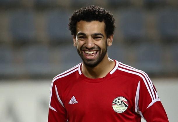 Salah con la maglia della sua nazionale. Fonte: http://www.romagiallorossa.it