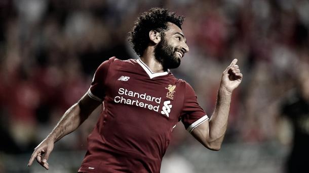 Salah llevará el peligro por la banda derecha del Liverpool./ Foto: Premier League