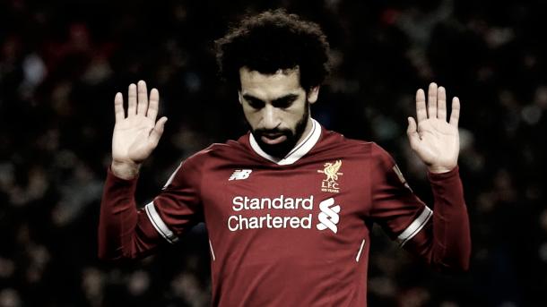 Salah buscara volver a marcar frente a un equipo al que le ha metido ya dos./ Foto: Premier League