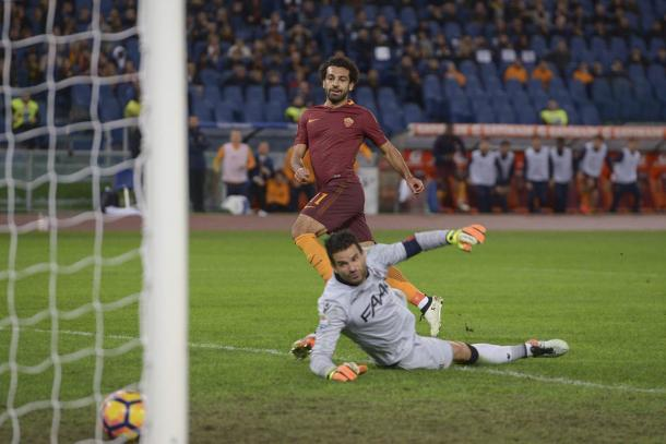 Mohamed Salah realizza il 2-0 - Foto As Roma Twitter.
