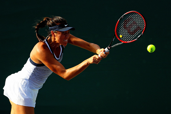 Samantha Crawford During The Match Versus Coco Vandeweghe. Photo: Mike Ehrmann/Getty Images