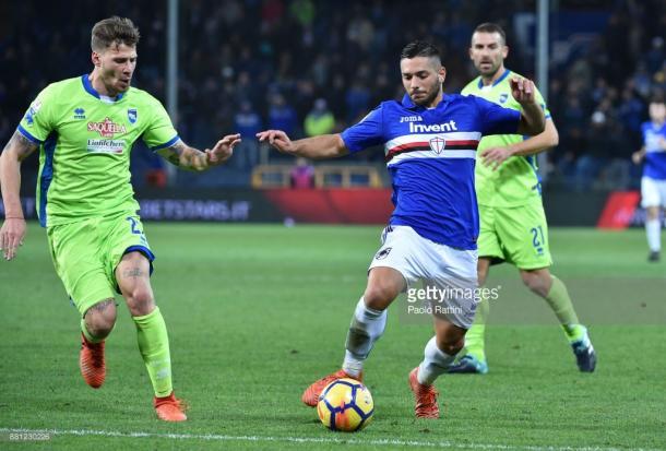 Gianluca Caprari frente al Pescara en el partido de Coppa de Italia / Foto: gettyimages
