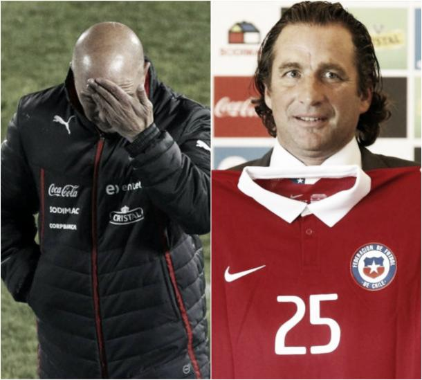Sale Sampaoli, ingresa Pizzi. (Montaje: Vavel.com)