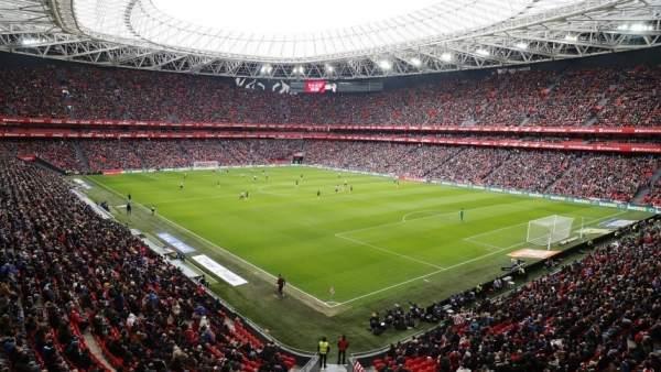 Así lucía San Mamés en un partido histórico para el fútbol femenino. Foto: 20minutos
