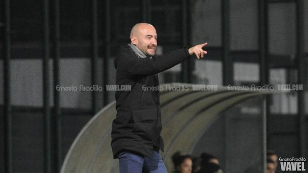 El entrenador azulgrana, Fran Sánchez / Foto: Ernesto Aradilla (VAVEL.com)