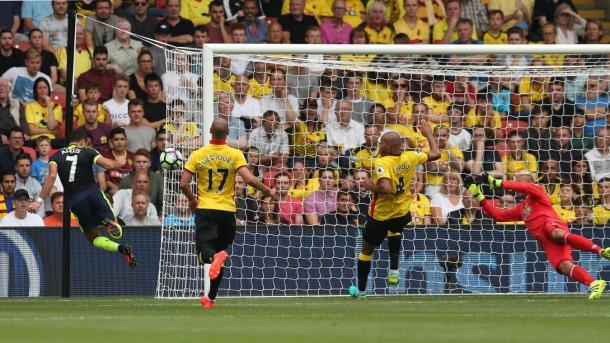 Sanchez autore di uno dei 3 goal ospiti, www.premierleague.com
