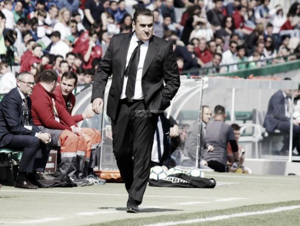 José Ramón Sandoval al mando del Córdoba CF (FOTO: Córdoba CF)