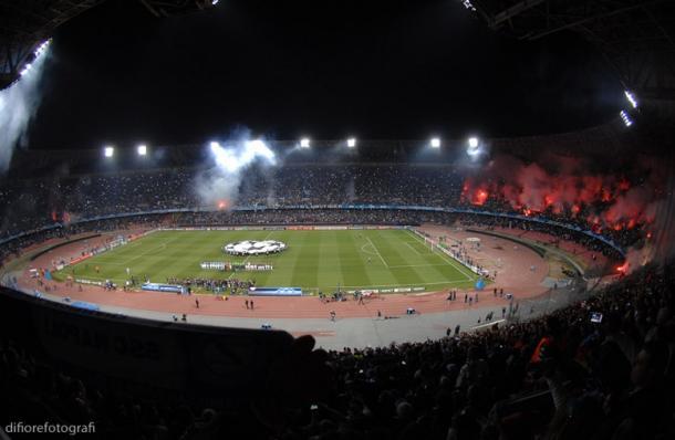 San Paolo durante un partido de Champions League. / Foto: difiorefotografi