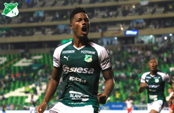 Daniel 'Danny' Rosero, goleador y figura del partido. Imagen: @AsoDeporCali.