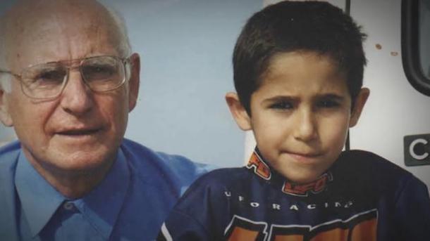 Luis Salom y su abuelo. Foto: Zimbio