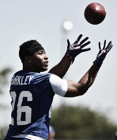 Saquon Barkley veste a 26 dos Giants. Foto: Reprodução/Instagram/Nygiants