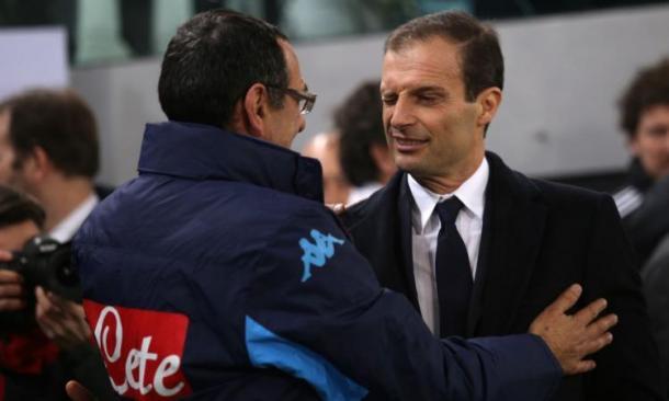 Sarri ed Allegri - Foto CalcioMercato