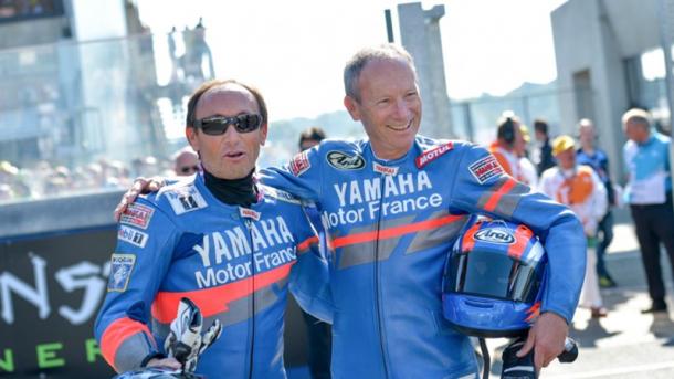 Los hermanos Sarron después de una carrera. | Fuente: MotoGP