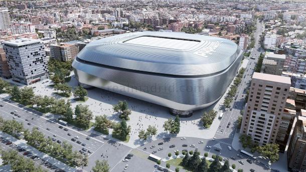 Así será el Nuevo Santiago Bernabéu. Fuente: Real Madrid.