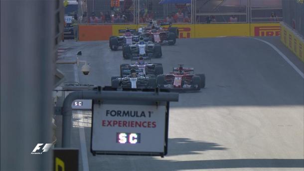 Lo scontro tra Hamilton e Vettel | twitter
