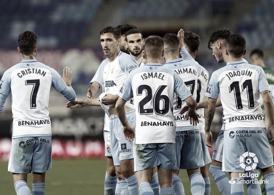 jugadores junto con S. Scepovic celebrando el gol del serbio. / Foto: LaLiga.