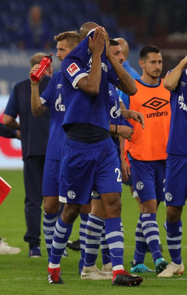 Jugadores del Schalke lamentándose luego de la derrota ante Hertha / FOTO: S04
