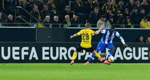 Marcel Schmelzer had a fine game | Photo: BVB