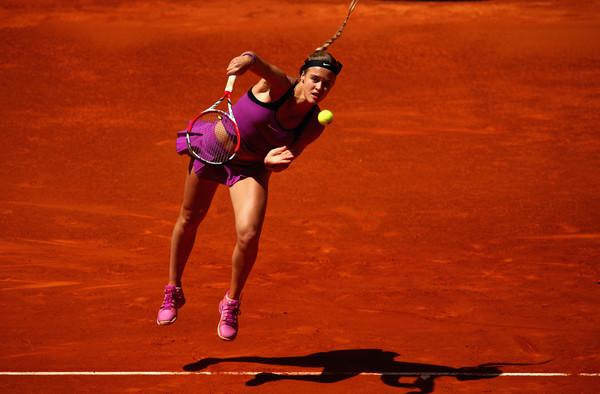 Schmiedlova in action against Muguruza at the Mutua Madrid Open (Clive Brunskill/Getty Images)