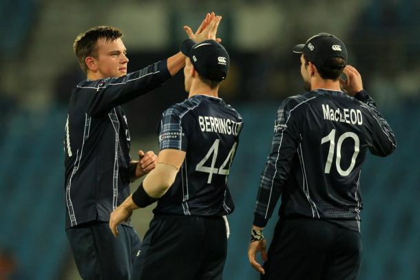 Scotland celebrate a wicket (photo: ICC)