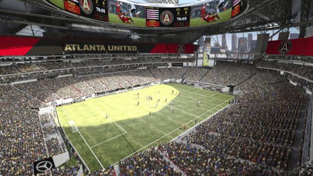 Mercedes Benz Stadium. Fuente: Atlanta United