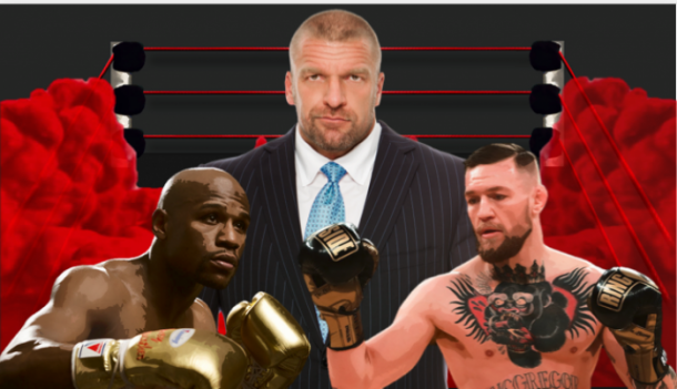 Triple H extended the olive branch to McGregor and Mayweather (Image: Joel Lampkin)