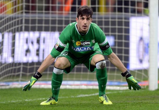 Scuffet con la maglia dell'Udinese. | Foto: goal.com