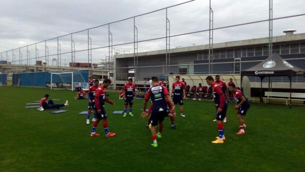 Elenco tricolor treinou no CT do Grêmio (Foto: Divulgação/Fortaleza)