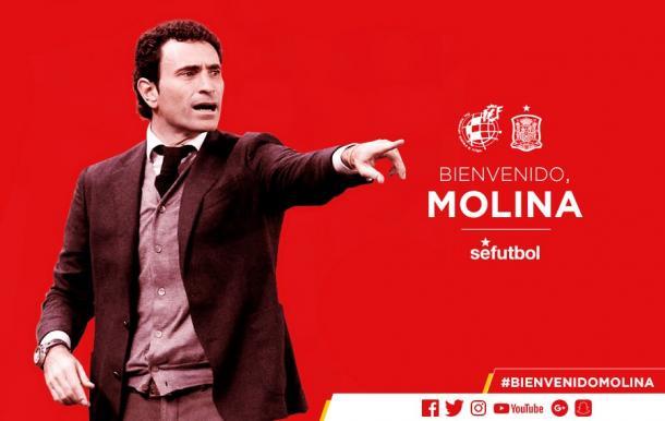 Anuncio de Molina como director deportivo | Foto: @SeFutbol